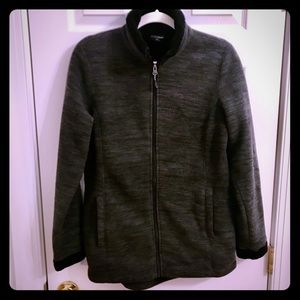32 degrees Heat women's gray fleece zip up sz med